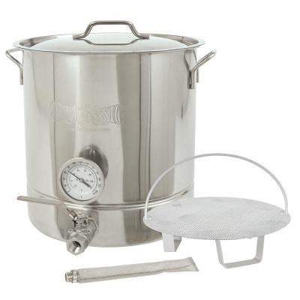 10 gal. Stainless Steel Standard Brew Kettle (6-Piece)