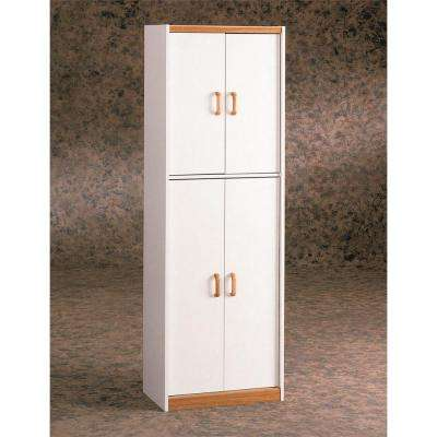 Richburg 4-Door Storage MDF Pantry in White