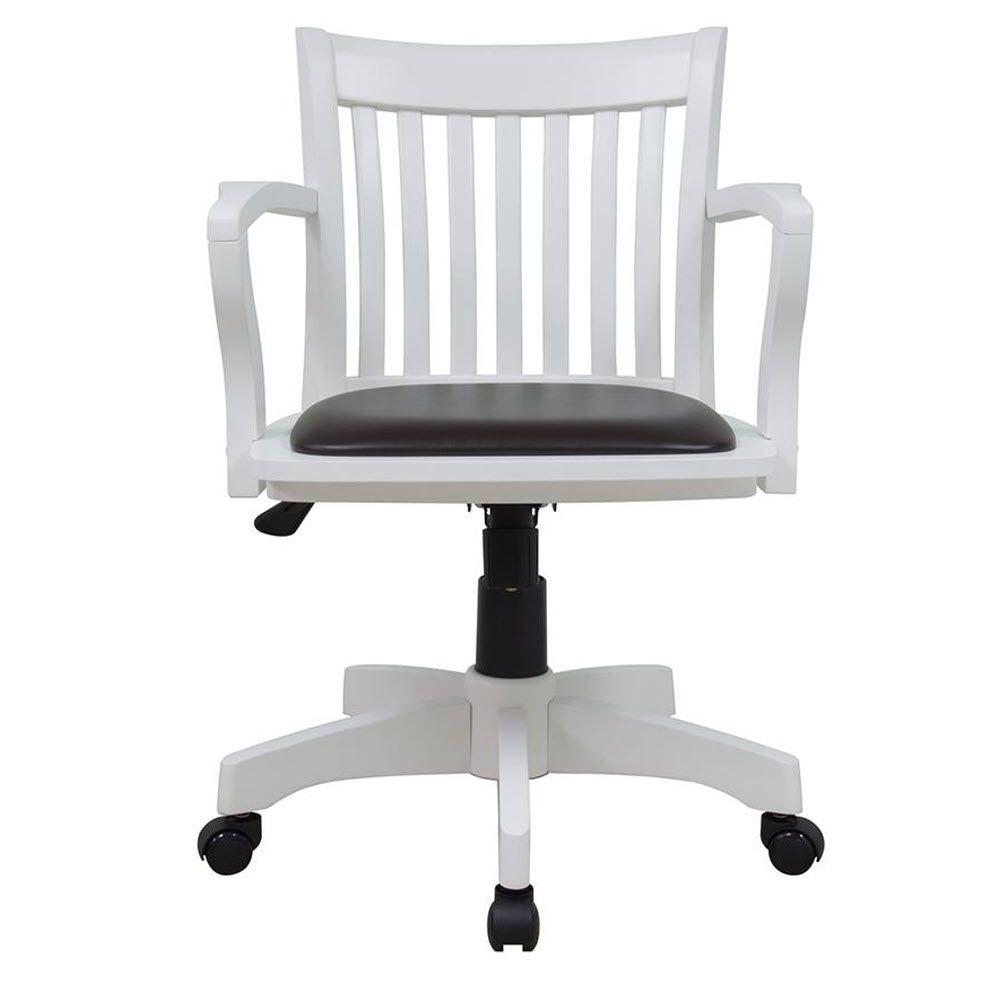 Home Depot Office Chairs: Oxford White Office Chair-1970900410