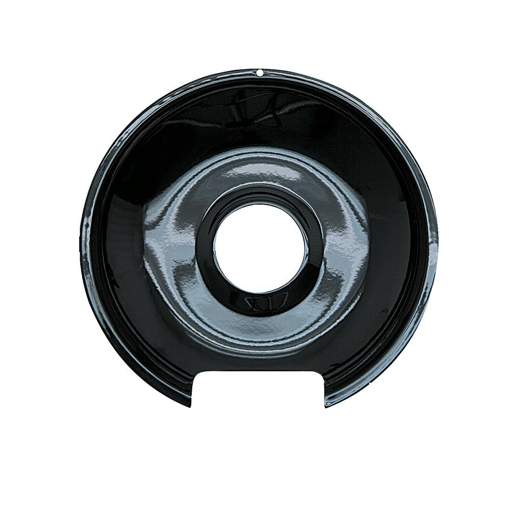 8 in. Drip Pan in Black Porcelain