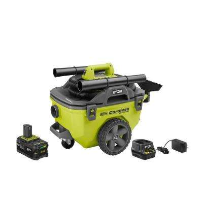 18-Volt ONE+ Lithium-Ion Cordless 6 Gal. Wet/Dry Vacuum Kit with 4.0 Ah Battery, Charger, and Vacuum Accessories