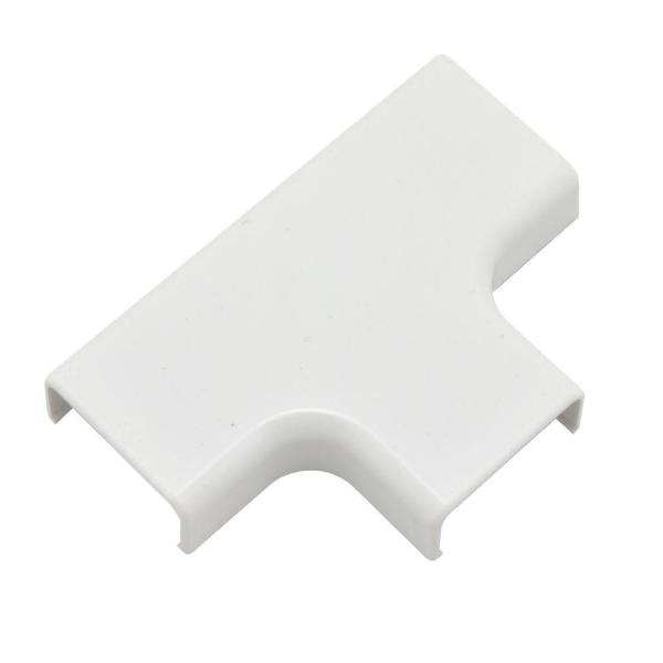 Wiremold CordMate II Cord Cover T Fitting, White