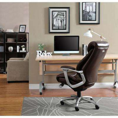 Cantania Coffee Brown Bonded Leather Executive Office Chair