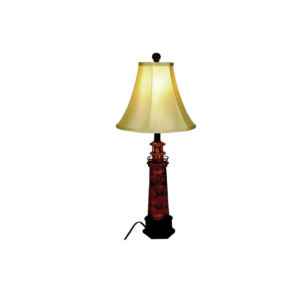 Santas workshop 26 in lighthouse table lamp with shade 50300 the lighthouse table lamp with shade aloadofball Choice Image