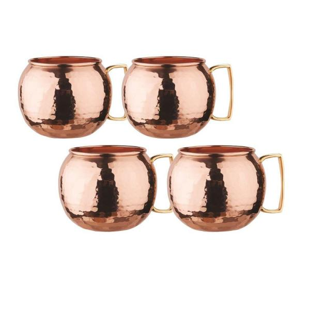 31064825845 Old Dutch 32 oz. Hammered Solid Copper Globe Moscow Mule Mug (Set of ...