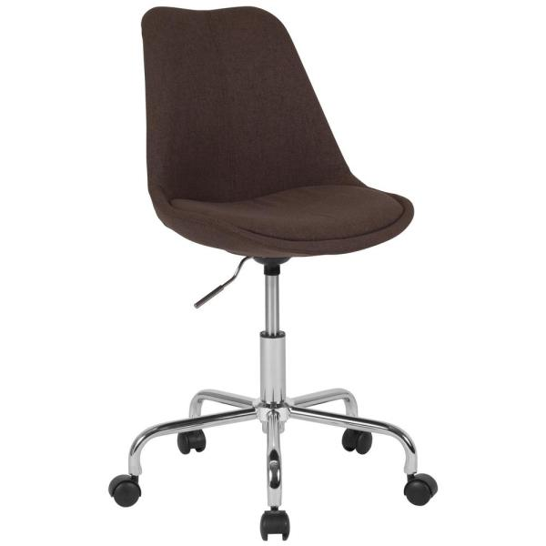 Carnegy Avenue Brown Fabric Office Desk Chair Cga Ch 229091 Br Hd The Home Depot