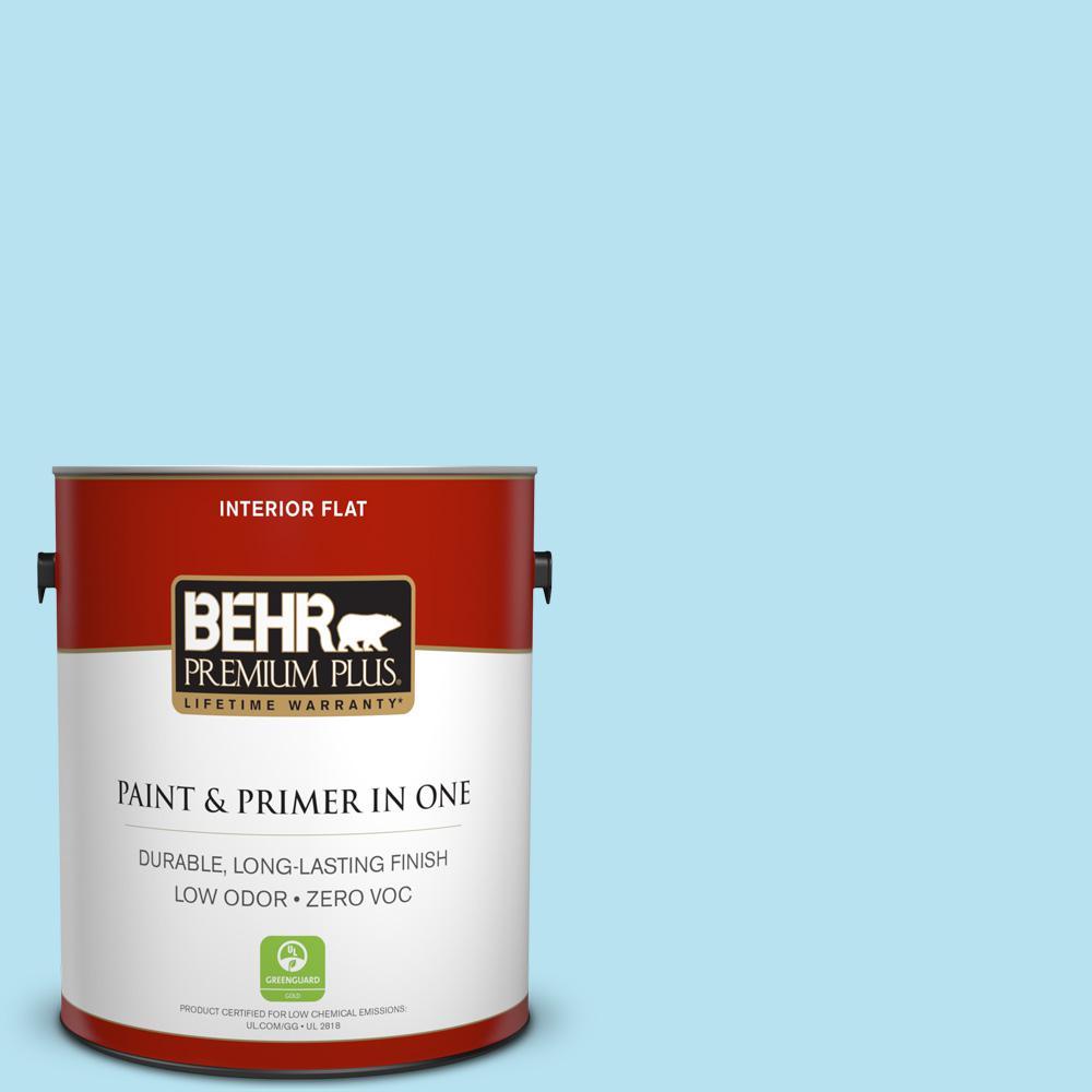 BEHR Premium Plus 1-gal. #P490-1 Ocean Front Flat Interior Paint