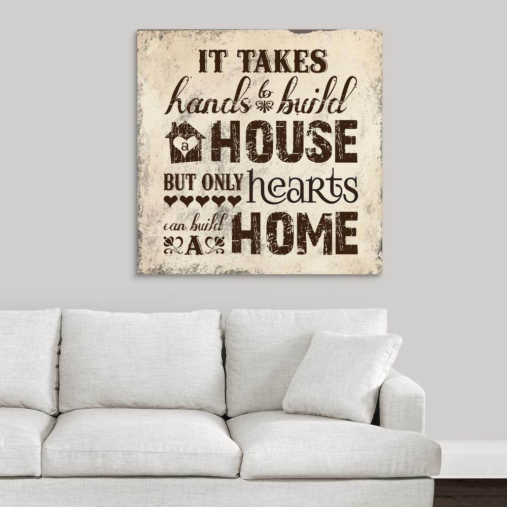 """Home I"" by Melody Hogan Canvas Wall Art"