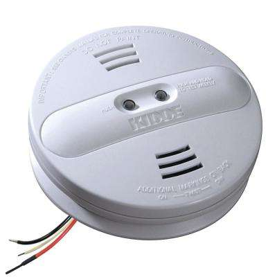Hardwire Smoke Detector with 9-Volt Battery Backup and Ionization/Photoelectric Dual Sensors