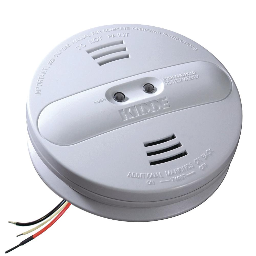 Kidde Hardwire Smoke Detector with 9V Battery Backup and Ionization ...