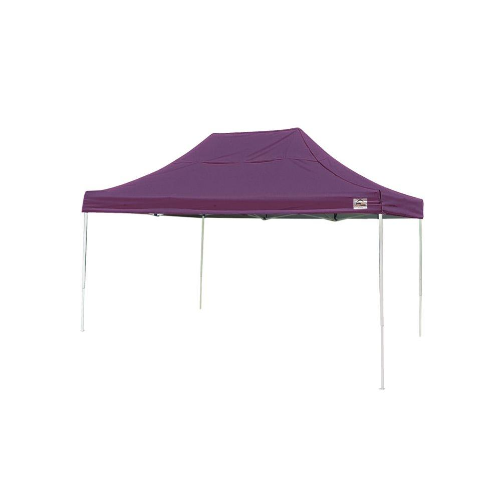 ShelterLogic 10 ft. x 15 ft. Pop-Up Canopy in Purple Cove...