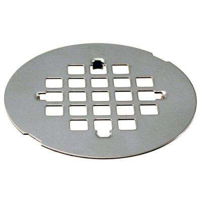 4-1/4 in. Snap-In Shower Strainer Grid in Chrome