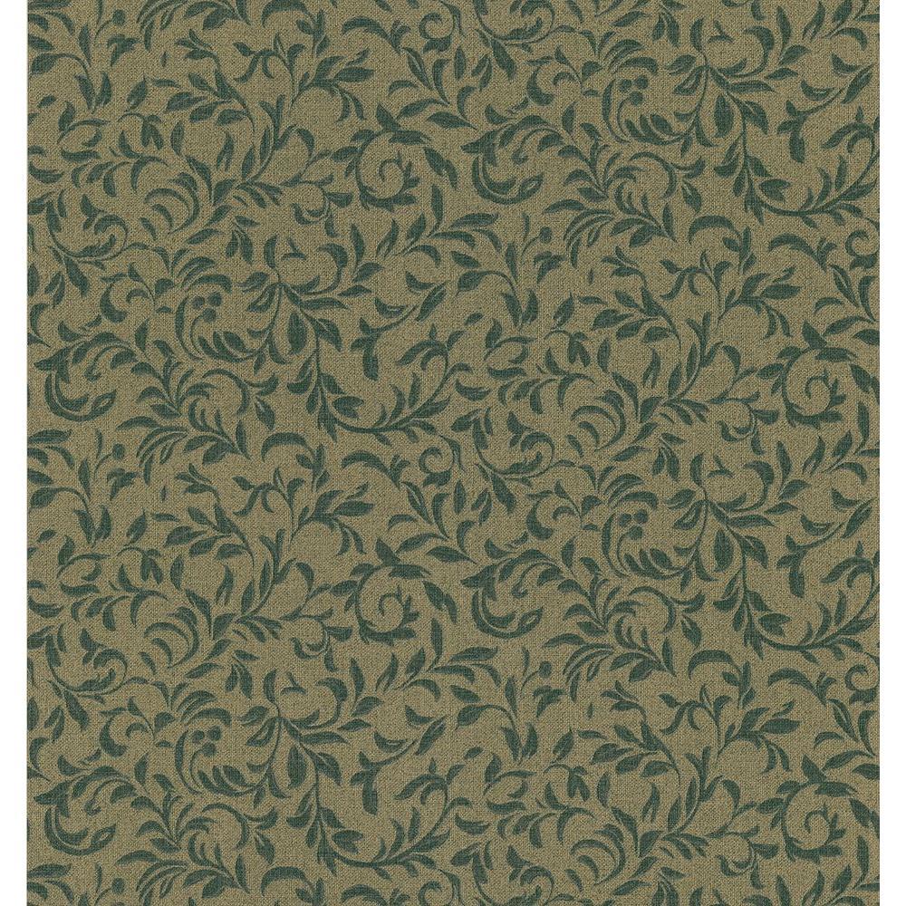 Small Leaf Scroll Wallpaper