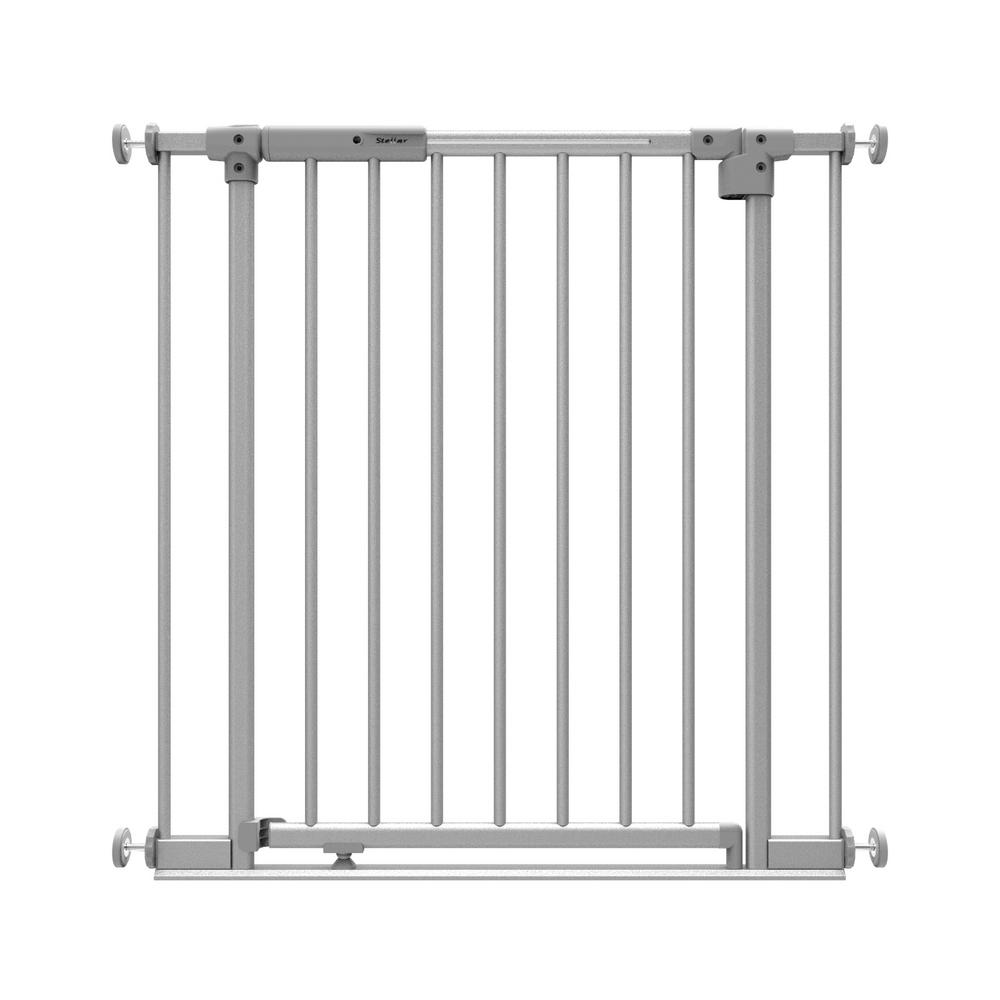 30 in. H Stellar LED Baby Gate, Safe Step and Auto