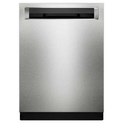 24 in. Top Control Built-In Tall Tub Dishwasher with Bottle Wash Option in Stainless Steel with PrintShield