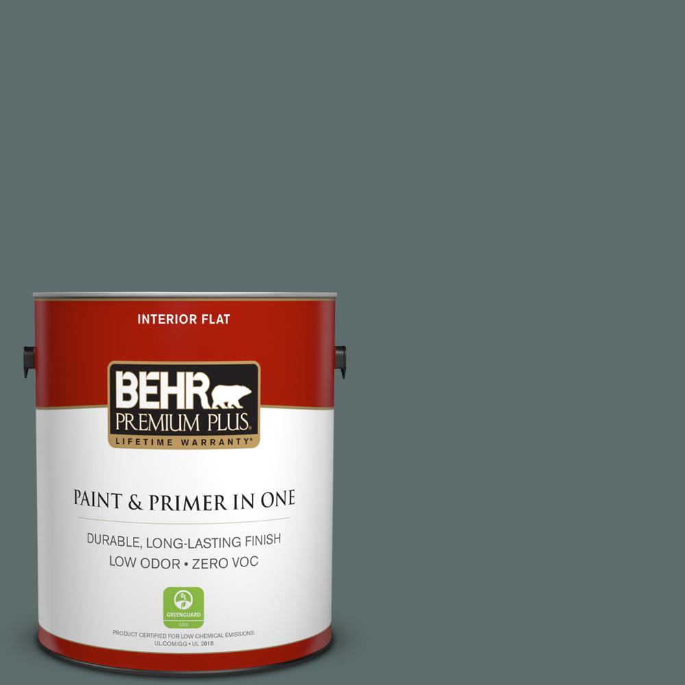1 gal. #PPU12-19 Mountain Pine Zero VOC Flat Interior Paint
