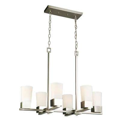 Ciara Springs 6-Light Brushed Nickel Chandelier