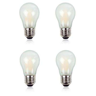 60-Watt Equivalent A15 LED Light Bulb with CEC and Title 20 Certification Warm White (4-Pack)