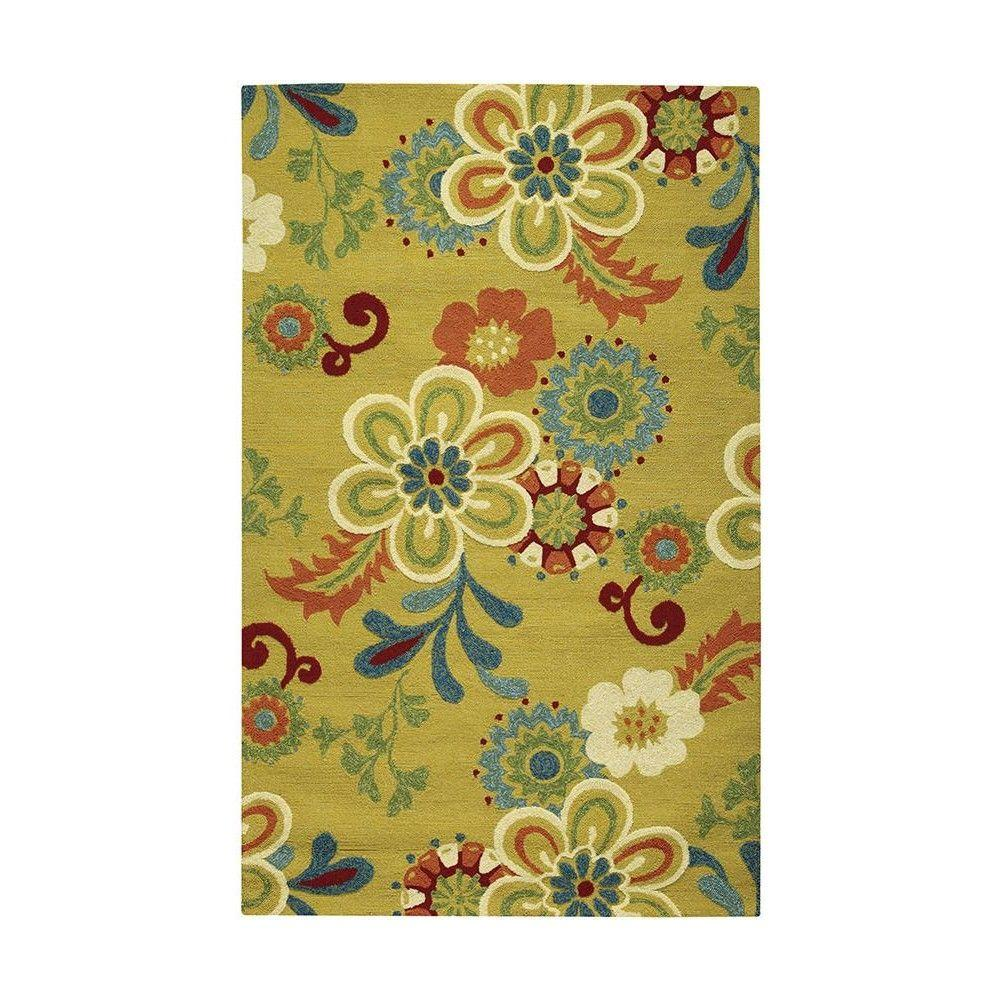 Home Decorators Collection Tilly Yellow 5 Ft X 8 Ft Area Rug 1323730510 The Home Depot