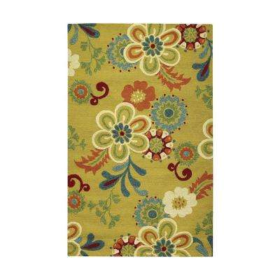 Tilly Yellow 5 ft. x 8 ft. Area Rug