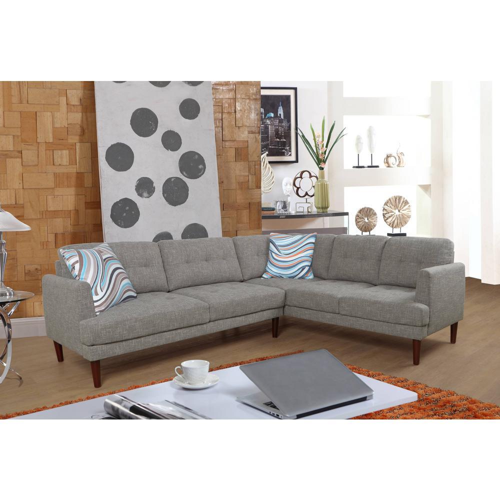 Gray Sectional Sofa Set (2-Piece)