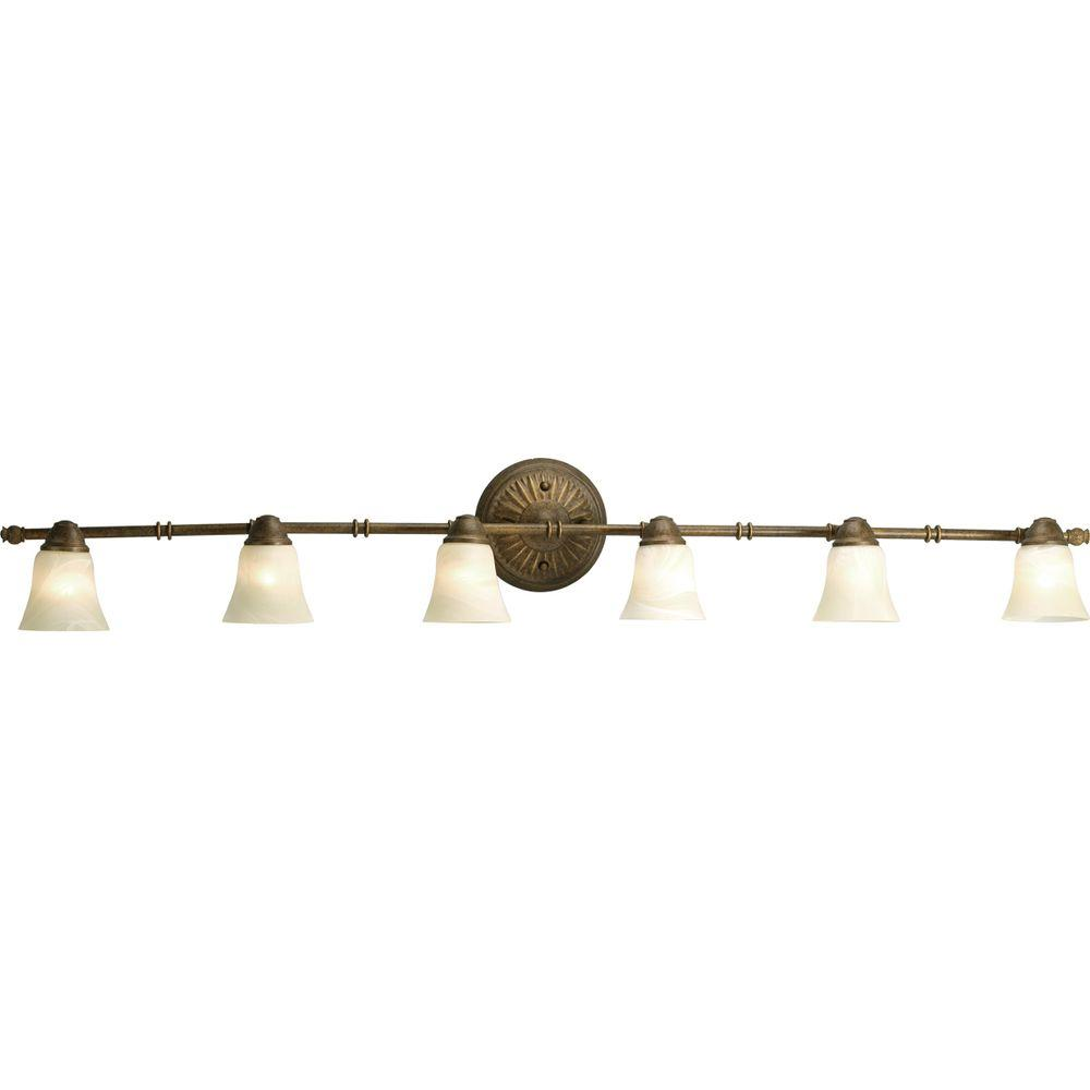 Progress Lighting Savannah Collection Burnished Chestnut 6-light Spotlight Fixture-DISCONTINUED
