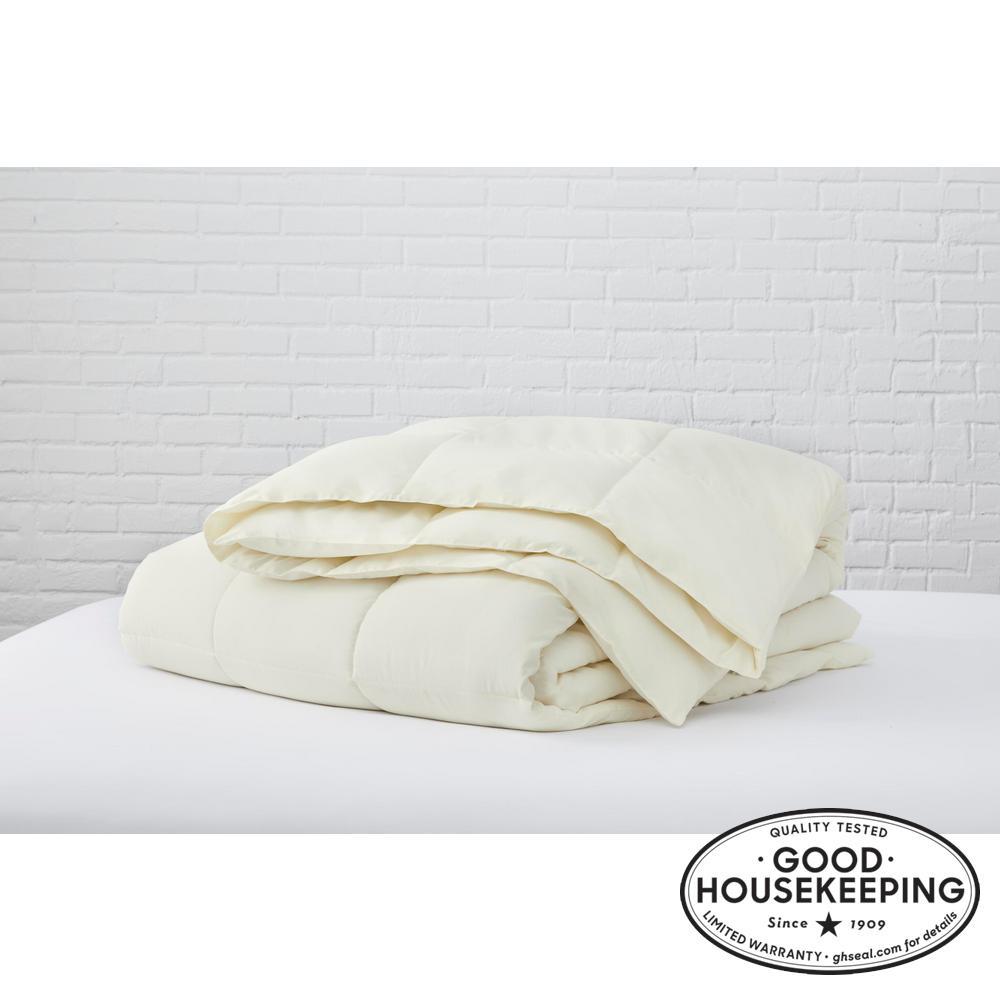 Ivory Microfiber Twin Comforter