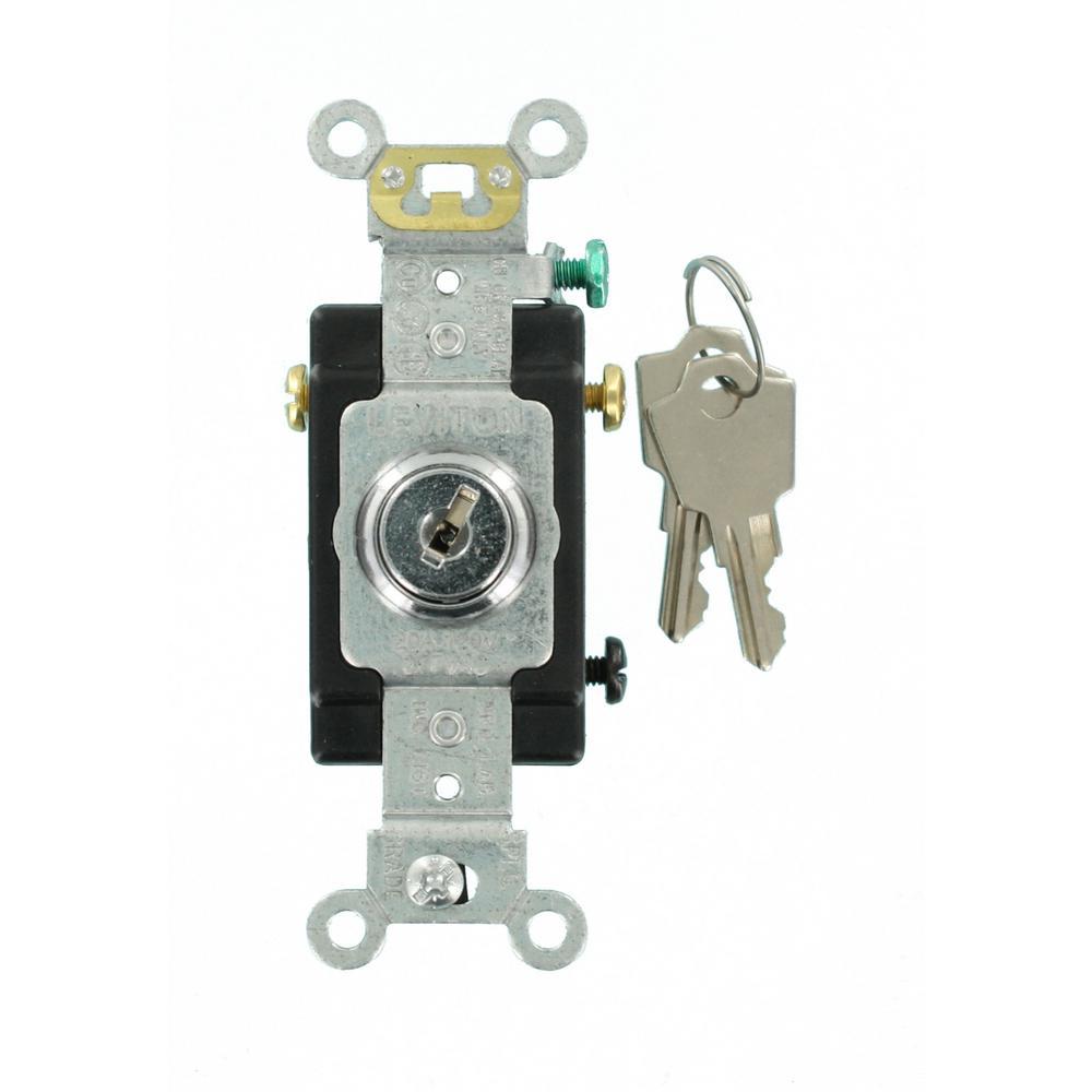 20 Amp Industrial Grade Heavy Duty 3-Way Key Locking Switch