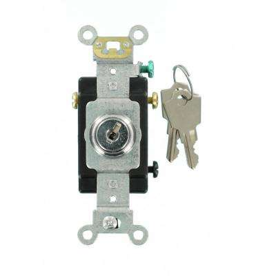 20 Amp Industrial Grade Heavy Duty 3-Way Key Locking Switch