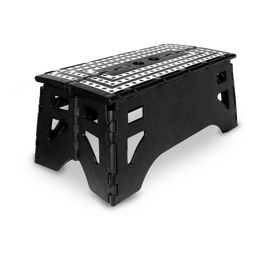 13 in. Plastic Folding Step Stool with 350 lb. Load Capacity