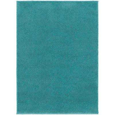 posh shag turquoise 6 ft 7 in x 9 ft 3 in