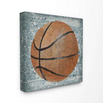 "17 in. x 17 in. ""Grunge Sports Equipment Basketball"" by Studio W Printed Canvas Wall Art"