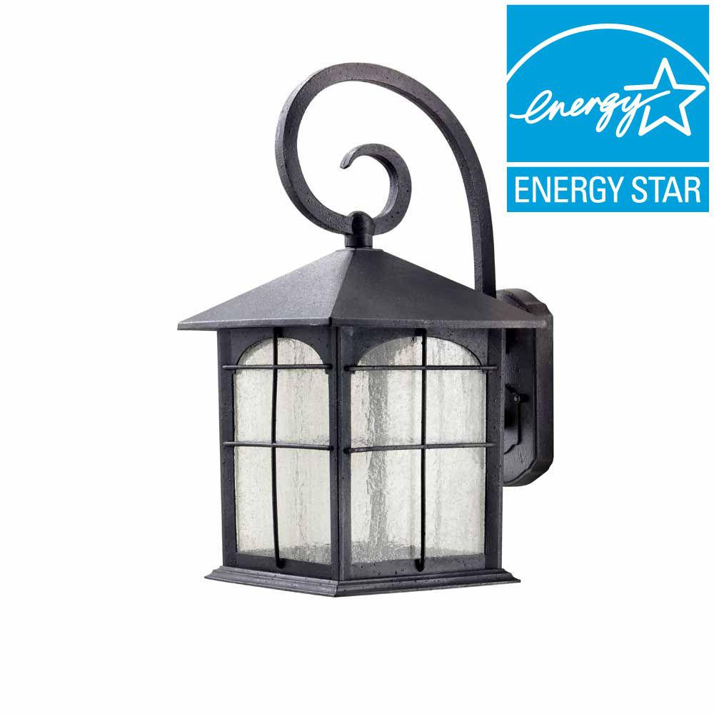 Home Decorators Collection Aged Iron Outdoor LED Wall Lantern Y37030ALED 292