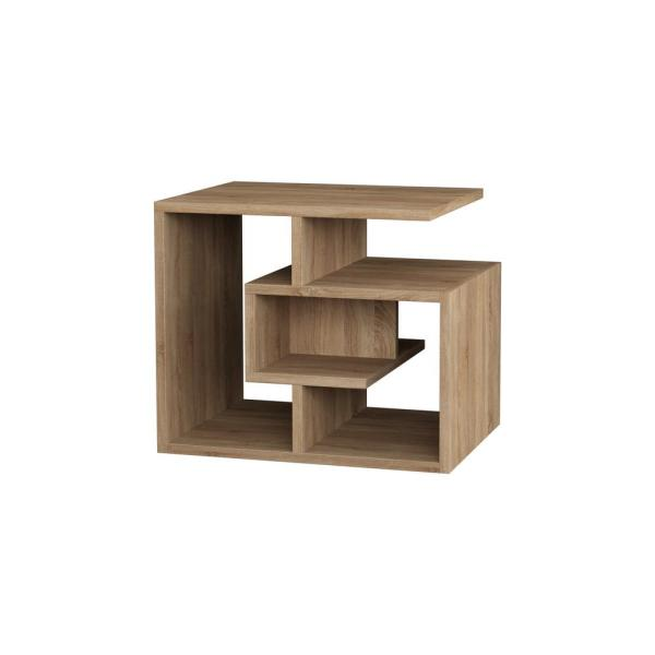 Ada Home Decor Briscoe Oak Modern Side Table DCRS2014