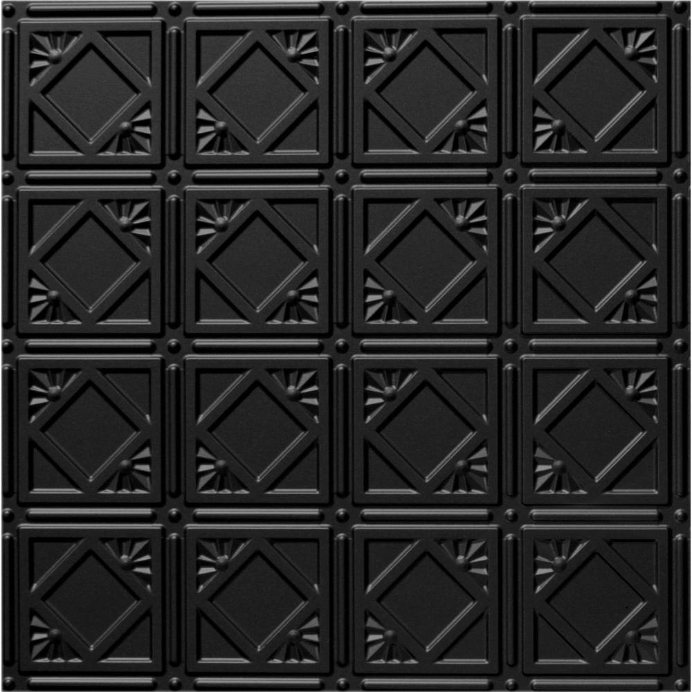 Global Specialty Products Dimensions 2 Ft X 2 Ft Matte Black Tin