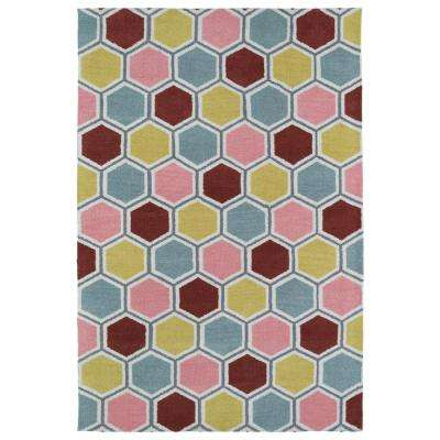 Lily and Liam Pink 2 ft. x 3 ft. Area Rug