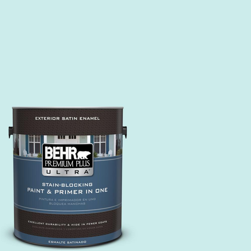 BEHR Premium Plus Ultra 1-gal. #500C-3 Spa Satin Enamel Exterior Paint