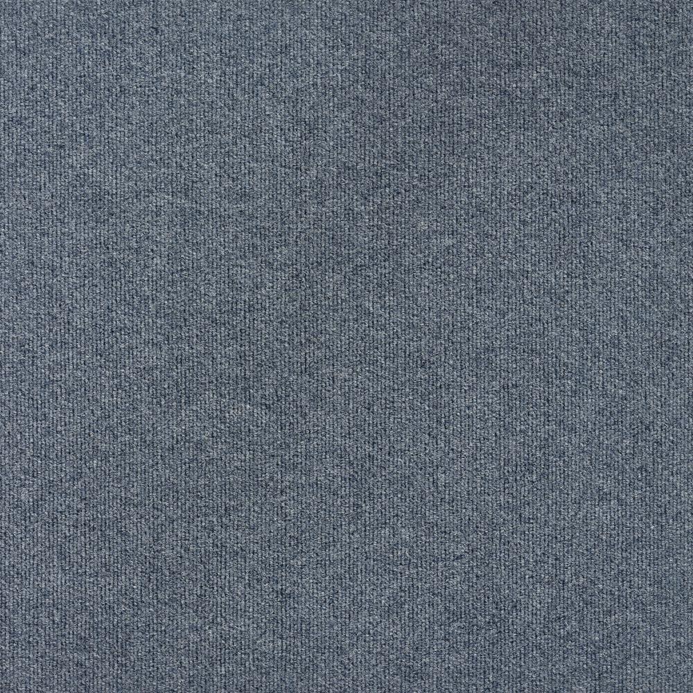 Contender Single Rib Slate Blue 24 in. x 24 in. Commercial Peel and Stick Carpet Tiles (15 Tiles/Case)