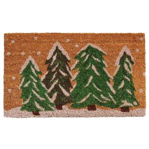 Winter Wonderland 17 in. x 29 in. Coir Door Mat