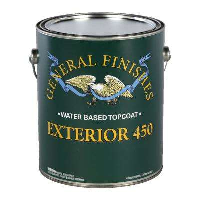 1 gal. Flat Exterior 450 Clear Varnish Topcoat