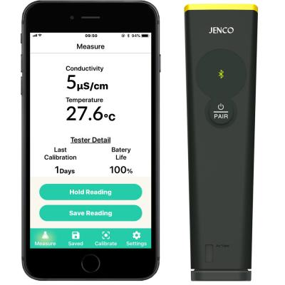 Waterproof Bluetooth Pool Conductivity/Salinity/TDS and Temperature Tester