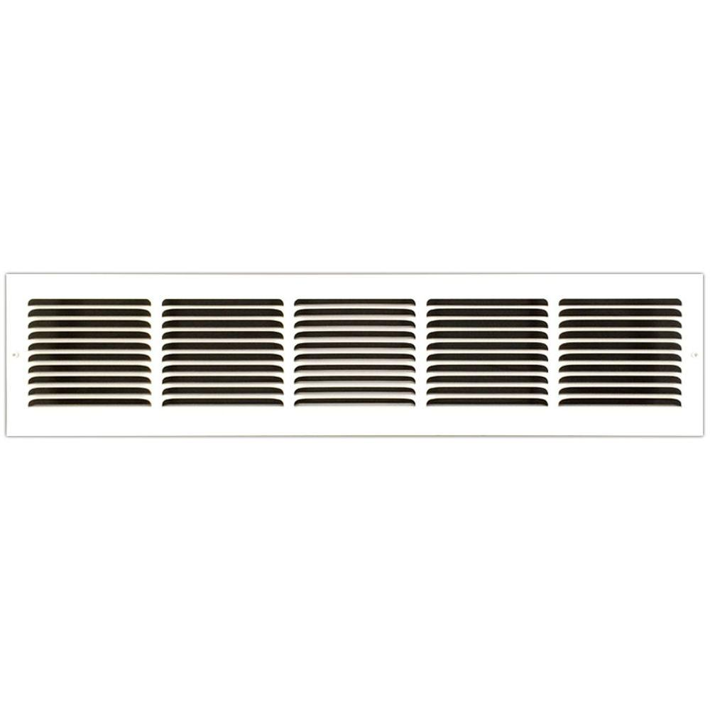 30 in. x 6 in. Base Board Return Air Vent Grille with Fix...