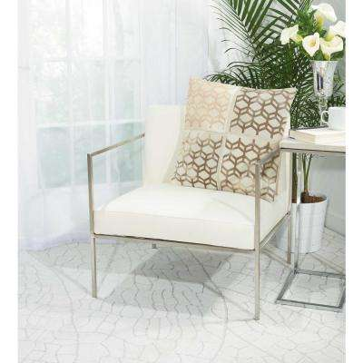20 in. x 20 in. Modern Cubes White Pillow