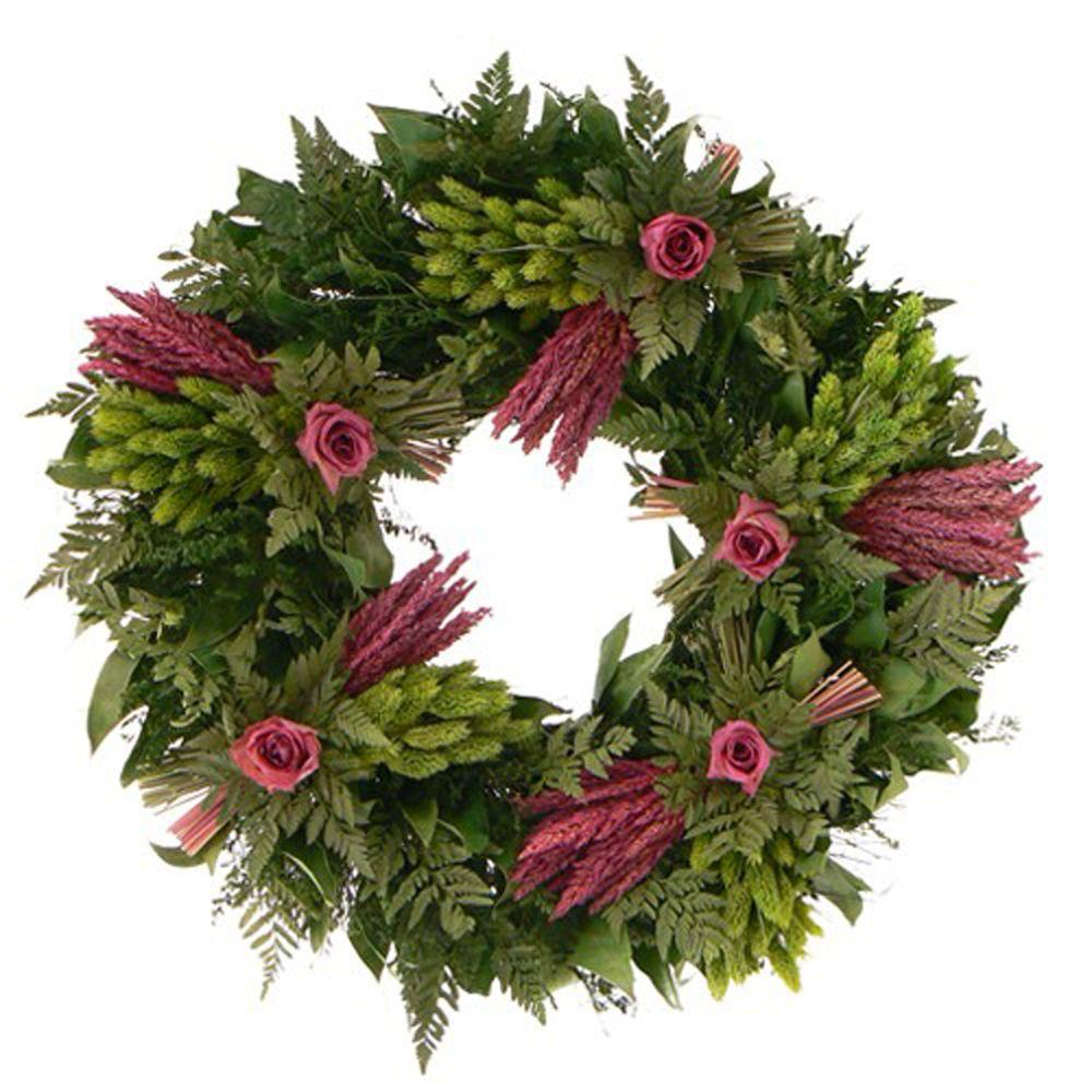 The Christmas Tree Company Love Eternal 22 in. Dried Floral Wreath-DISCONTINUED