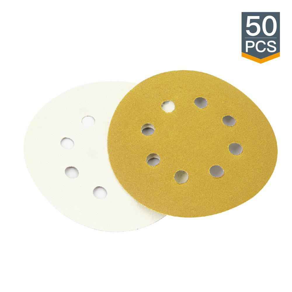 320 Grit PSA Sanding Discs 50 Pc Warrior 6 in
