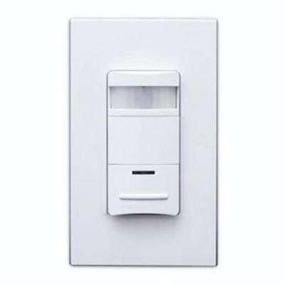 Lev-Lok Modular Device - Decora Commercial Grade Single-Pole 2100 sq. ft. 180° Occupancy Sensor, Gray