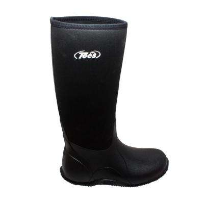Men's Size 8 Black Rubber 16 in. Hunting Boots