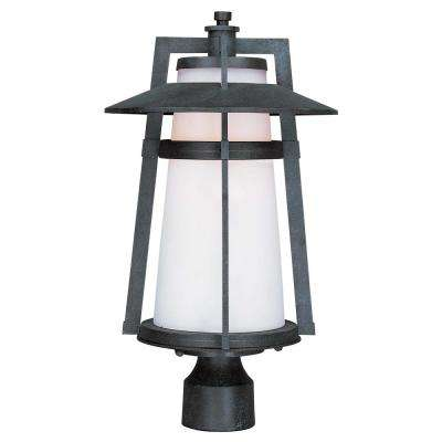 Calistoga 10.25 in. Wide 1-Light Outdoor Adobe Integrated LED Post Light