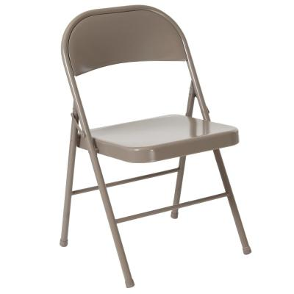 Gray Metal Outdoor Safe Folding Chair