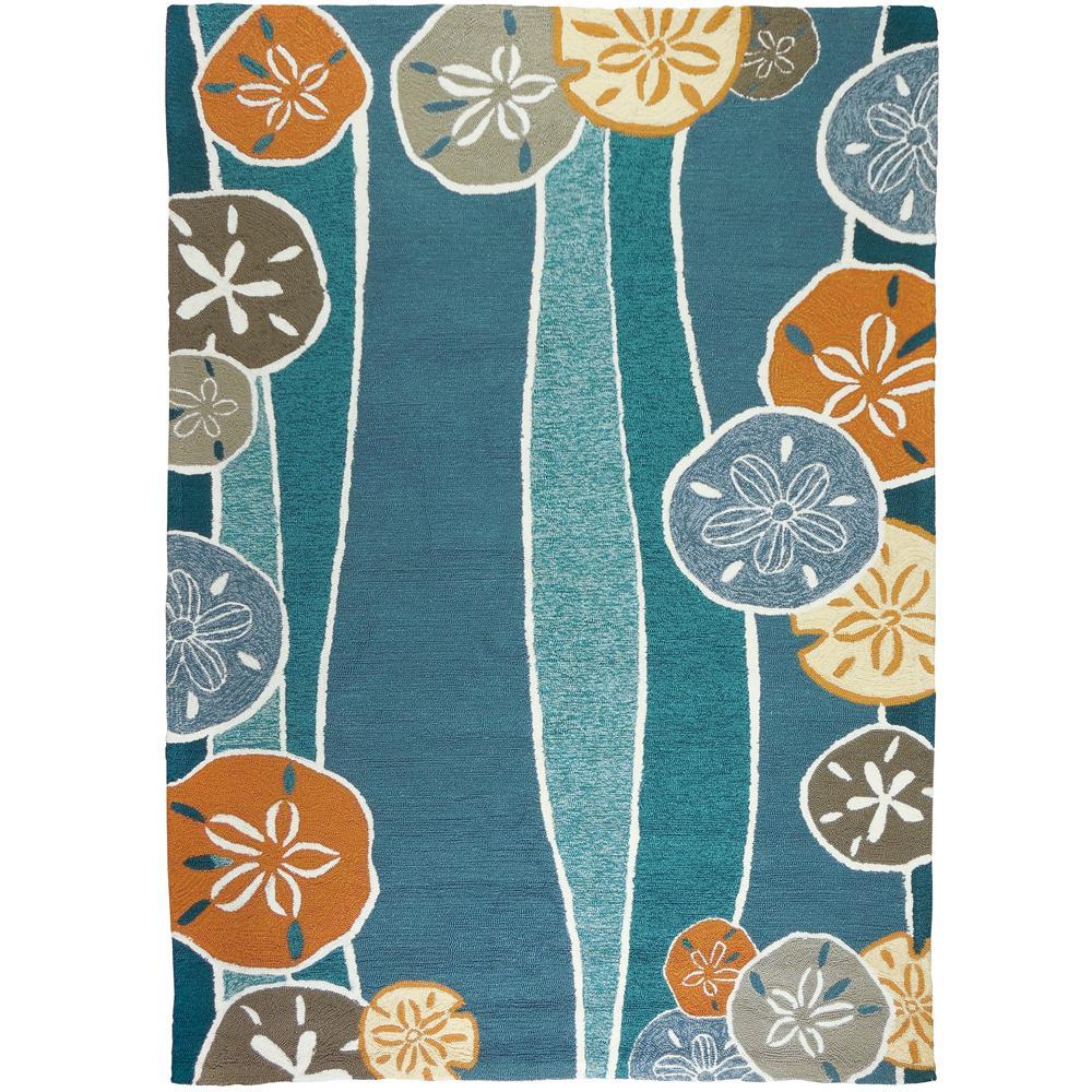 beachcomber bluecoral 8 ft x 10 ft rectangle area rug